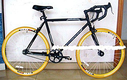 固定バイクマットブラックと黄色で仕上げ B01J9K0QAK