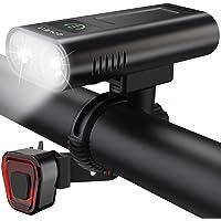 DOVEYI USB oplaadbare LED-fietsverlichting voor en achter, krachtige 6400 mAh Superheldere 2400 lumen fietsverlichting…