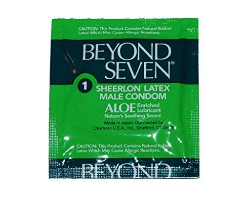 Okamoto Beyond Seven ALOE Condoms - 25 condoms