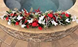 Holiday Garland, Christmas Garland, Christmas Floral Swag, Holiday Decoration, Winter Wedding Arch, Holiday Wedding Floral