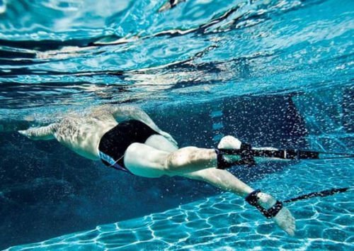 Aqua Sphere Stationary Swimmer Ankle Strap Swim Lap Swimmer - Swim Band Ankle