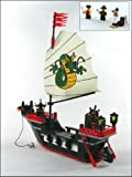 Barbara Pirate Ship - Building Block Brick Set 301 fits with lego brand - boxes may be dinged due to packaging made of soft cardboard