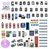WeiKedz The Most Complete Ultimate Starter Kit 51 in 1 Sensors Modules for Arduino, Bluetooth Module, Joystick Module, Ultrasonic Sensor, DHT11, NRF24L01 Wireless, 1602 Display, etc. with Lessons CD