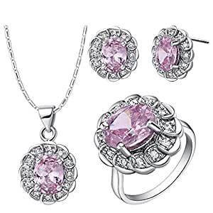 Amazon.com: KnSam Women Jewelry Set Platinum Plate