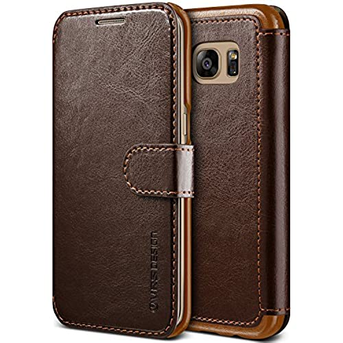 Galaxy S7 Edge Case, VRS Design [Layered Dandy][Coffee Brown] - [Premium Leather Wallet][Slim Fit] For Samsung Sales