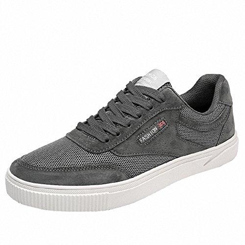 Ben Sports Herren Skateboardschuhe Skaterschuhe Skateboard-Schuhe Sportschuhe Sneakers Turnschuhe Schuhe Grau