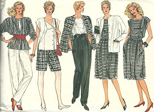 Vogue Pattern 8617 Misses' Jacket, Skirt, Pants, Shorts and Top, Size 14-16-18