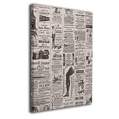 Paintings Canvas Framed Inside Atticus' is Reader When It Comes to Newspapers Decorations Pictures Wall Art for Home Decor Living Room Bedroom Stretched Ready to Hang 20x16 Inches]()