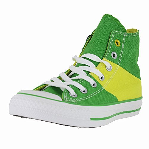 MENS CONVERSE ALL STAR HI TRI PANEL BRAZIL SHOES GREEN YELLOW SIZE 8.5