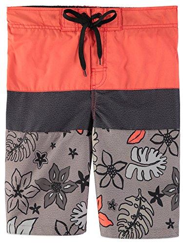 - Smith's American Boys' Color Blocked Stripes Swim Short (5/6, Tropical Orange)