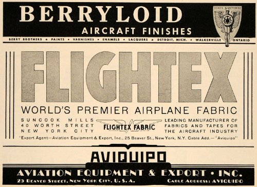 1938-ad-berryloid-flightex-aircraft-finishes-fabrics-original-print-ad