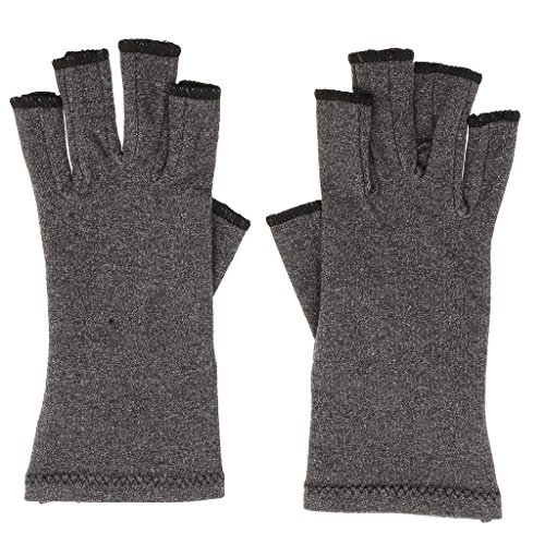 kesoto Arthritis Compression Gloves Ease Pain from Carpal Tunnel, Hand Gloves Fingerless for Computer Typing and Dailywork, Support for Hands and ()