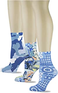 product image for Sox Trot Women's Ankle Socks, Colorful Printed Patterns and Decorative Fashionable Designs (Pack of 3 Pairs)