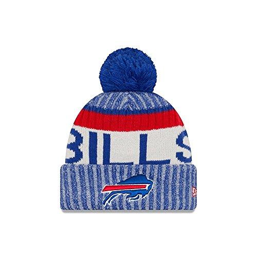 New Era Men's Men's Bills 2017 Sideline Official Sport Knit Hat Royal Size One Size Grey