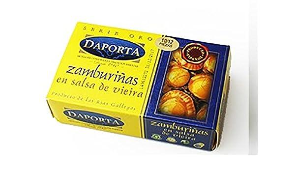 Conservas Daporta - Zamburiñas en Salsa de Vieira - Lata de 125Gr [Pack de 4]: Amazon.es: Alimentación y bebidas