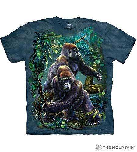The Mountain Gorilla Jungle Adult T-Shirt, Blue, Large
