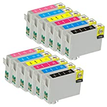 Ink & Toner Geek® - 12 Pack Remanufactured Replacement Inkjet Cartridges for Epson T079 #79 (T079120, T079220, T079320, T079420, T079520, T079620) For Use With Epson Artisan 1430 Stylus Photo 1400 (2 Black, 2 Cyan, 2 Magenta, 2 Yellow, 2 Light Cyan, 2 Light Magenta)