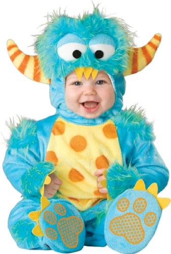 InCharacter Unisex Baby Monster Costume, Blue/Yellow/Orange, Medium