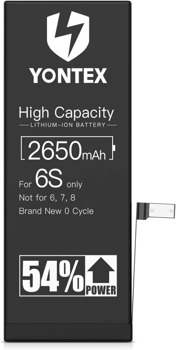 YONTEX 2650mAh Battery Replacement Compatible with iPhone 6S, Ultra High Capacity Li-ion Battery with Repair Tools and 1 Screen Protector