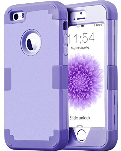 Silicone Case for iPhone 5/5S/SE (Purple) - 1