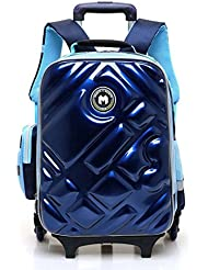 Meetbelify Rolling Backpack School Bags For Kids Removable Trolley Luggage