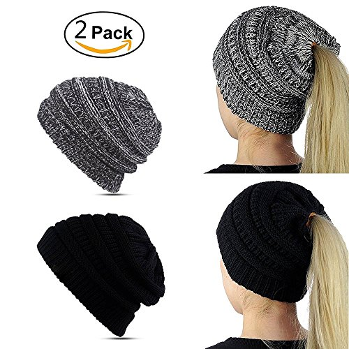 Lobeve Beanie Trendy Ponytail Knitting product image
