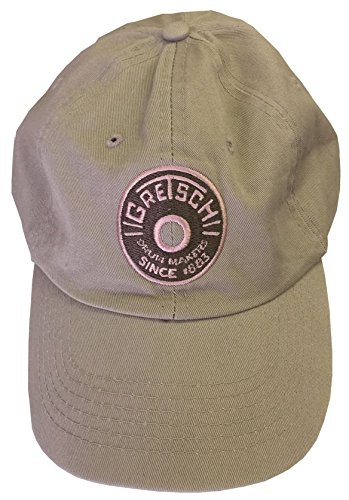 Gretsch Drum Makers Round Badge Embroidered Logo Adjustable STONE Hat Cap