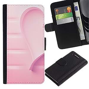 WINCASE ( No Para Xperia Z1 ) Cuadro Funda Voltear Cuero Ranura Tarjetas TPU Carcasas Protectora Cover Case Para Sony Xperia Z1 Compact D5503 - corazón de la conciencia del cáncer de amor