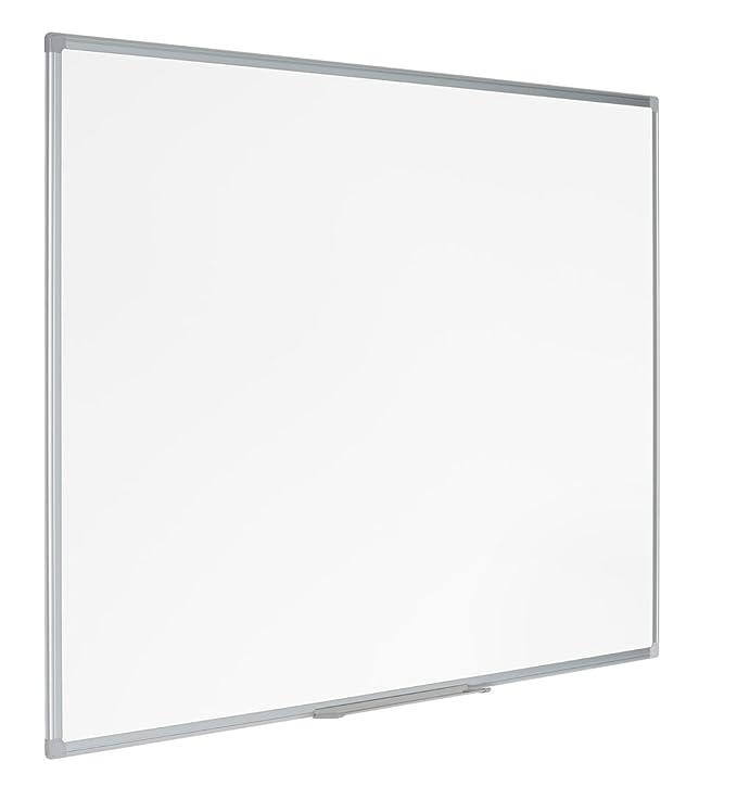 Bi-Office Earth - Pizarra blanca de Borrado en Seco, No magnética, Marco de Aluminio, 120 x 90 cm