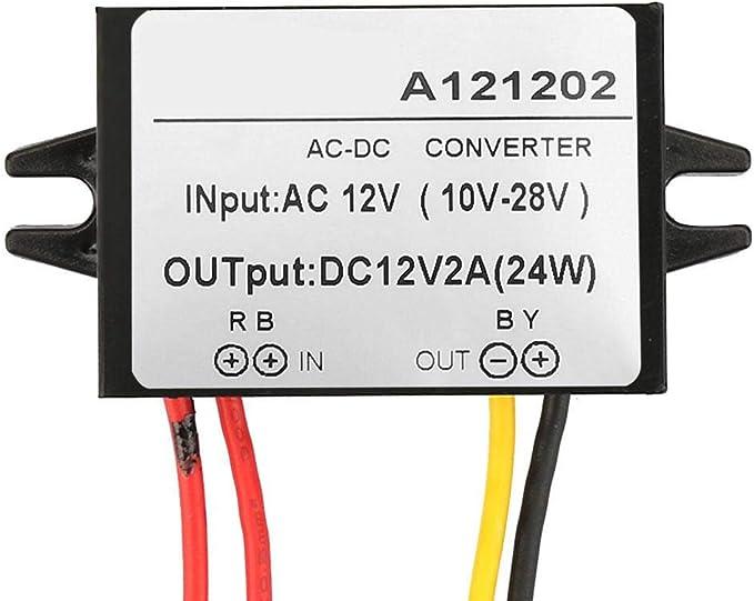 Ac 10 28v Auf Dc 12v Abwärtswandler Ac Dc Abwärtsstromversorgungsmodul Für Auto Bildschirm Und Monitorkamera Usw 2a Baumarkt