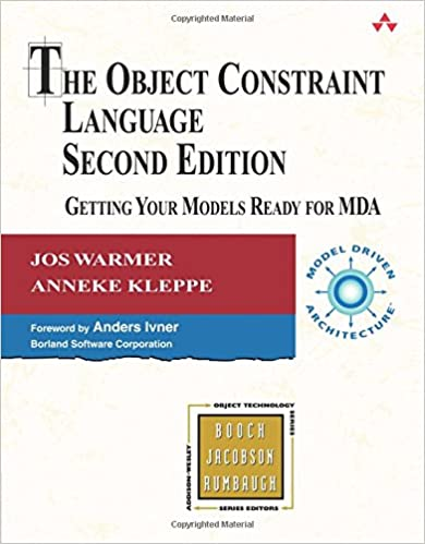 Book The Object Constraint Language: Getting Your Models Ready for MDA (2nd Edition) (Addison-Wesley Object Technology (Pdf))