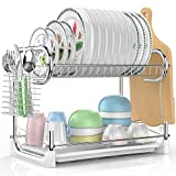 Best Dish Drainers - Dish Drying Rack, Veckle 2 Tier Dish Drainer Review
