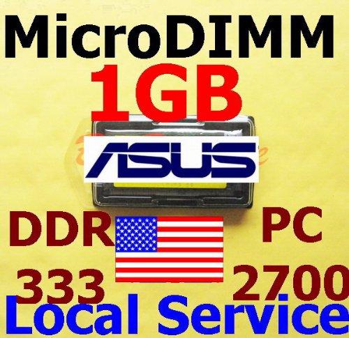 M5200n Series - 1GB Memory RAM for Asus M5 Series M5200N, M5N 172pin PC2700 333MHz microDIMM Black Diamond Memory Module Upgrade