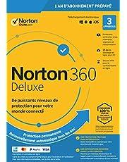 Norton 360 Deluxe 2020 | Antivirus pour 3 appareils et un an d'abonnement avec renouvellement automatique | Secure VPN et Password Manager | PC/Mac/iOS/Android | Code d'activation - envoi par email
