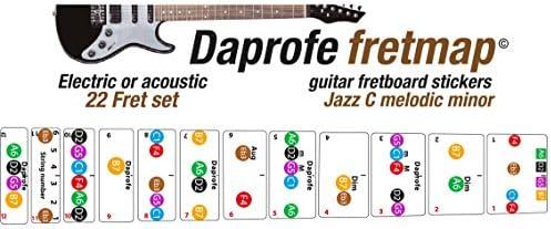 DAPROFE - Pegatinas de guía para guitarra eléctrica con mapa de ...