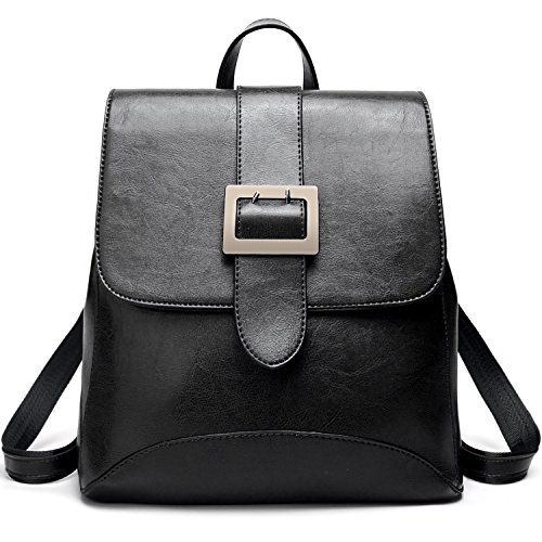 Womens Fashion Backpacks Purse PU Leather Shoulder Bags Ladies Casual Rucksack School Bags by ALARION
