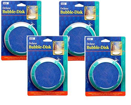 (PENN PLAX 5-Inch Bubble Disk Air Pump Accessories, Large (Pack of 4) )