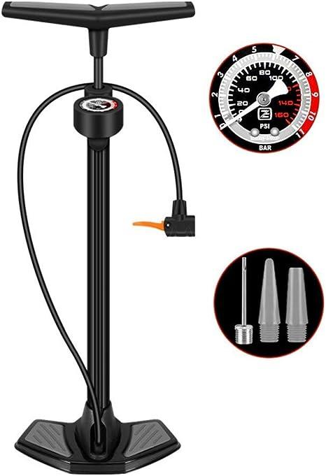 Bicicleta Bomba Bomba de alta presión de bicicletas Mini bomba con manómetro Simple Switch De, bomba de neumáticos adecuados for la montaña, bici de BMX, pelotas y juguetes inflables de carretera, bic: