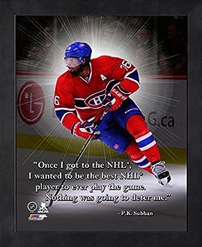 Montreal Canadiens P K  Subban 8x10 Pro Quote, Auto