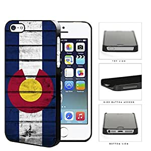 Colorado State Flag Wood Pattern Grunge Hard Snap on Phone Case Cover iPhone i5 5s