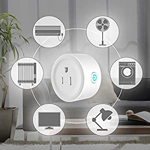 Alexa Smart Plugs, WiFi Outlet Socket 2 Pack, Smart Outlets Remote Control Timer/On/Off Switch, Work with Google Home/IFTTT, Smart Life APP, ETL FCC Listed