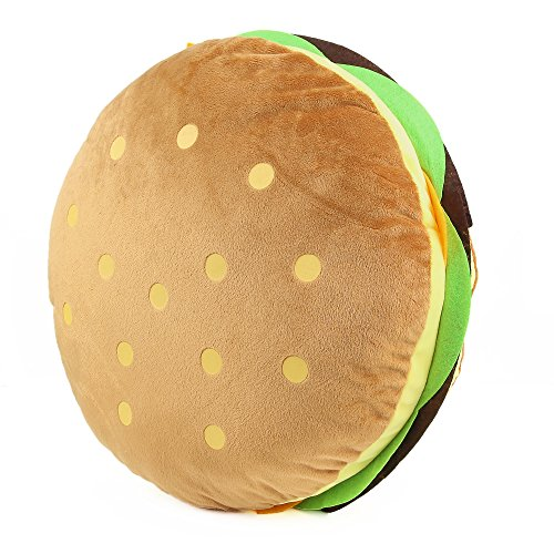 Tplay Stuffed Hamburger Pillow Burger Pillow Plush Toy 16