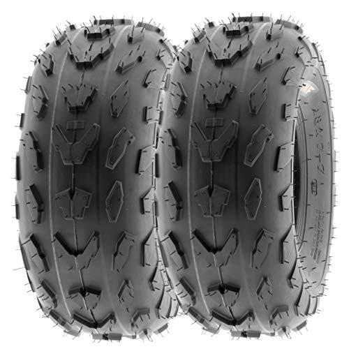 SunF 18x7-7 18x7x7 ATV UTV A/T Quad Race Replacement 4 PR Tubeless Tires A007, [Set of 2]