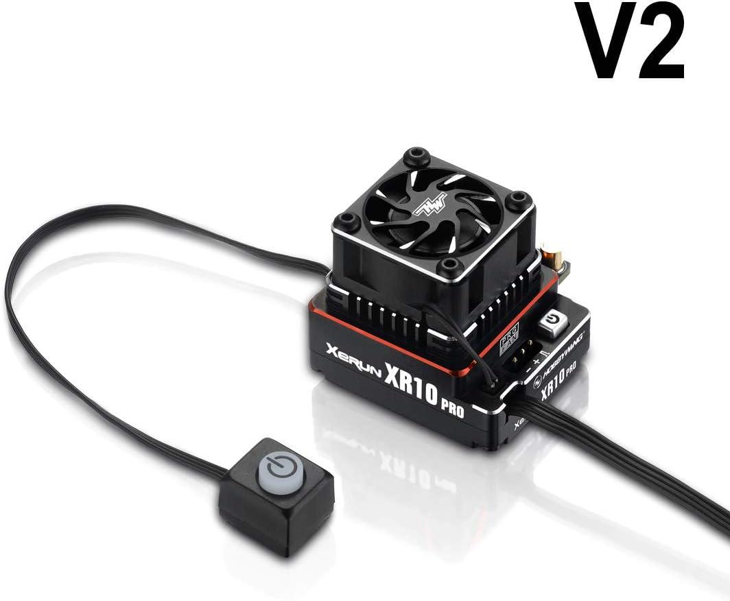 Hobbywing Xerun XR10 Justock Brushless ESC w//fan Black 30112000