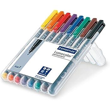 lumocolor permanent marker fine set 8 permanent markers office products. Black Bedroom Furniture Sets. Home Design Ideas