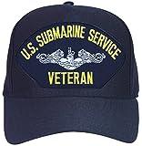 U.S. Navy Submarine Service Veteran Baseball Cap. Navy Blue. Made in USA