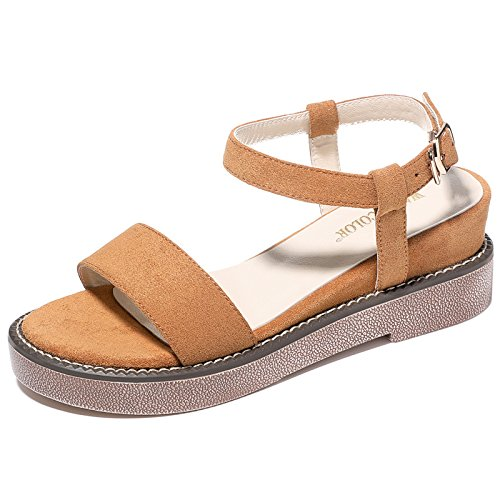 Wheat sandali studenti pendio Beach sandali fondo casual UE RUGAI e Ladies' spesso estate yellow qS7wx1