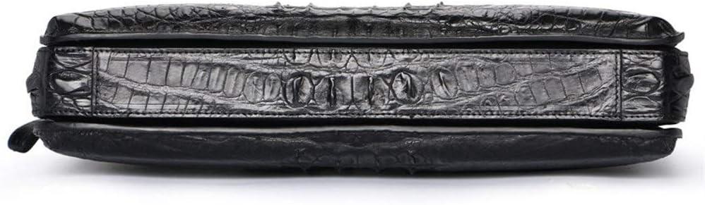 ZYL-YL Cartella Da Uomo In Pelle Di Coccodrillo Borsa A Mano Borsa A Tracolla Valigetta In Pelle (Color : Black) Black