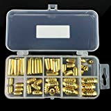 Fishing Lure Hook Set Kit Screw Thread Bullet Copper 51pcs Hard Lure Baits Tackle Set With Tackle Box