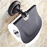 XUEXIN Toilet Paper Holder Oil Rubbed Bronze Wall Mounted 140 x 134 x 66mm (5.51 x5.27 x 2.59'') Brass / Ceramic Traditional